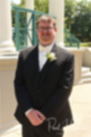 Mark smiles for a photo prior to his August 2018 wedding ceremony at the Roger Williams Park Casino in Providence, Rhode Island.