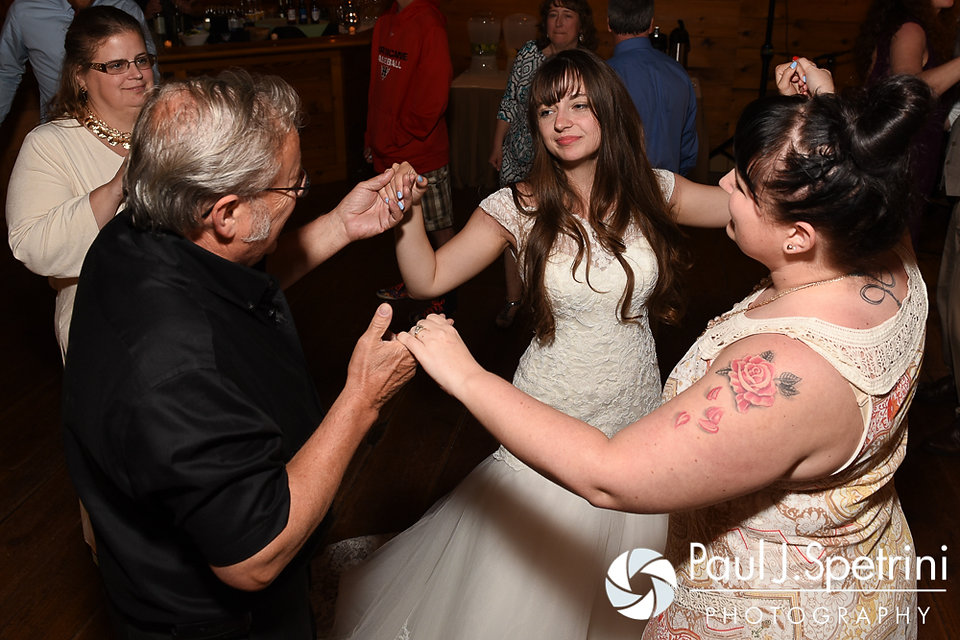 Krystal dances with guests during her May 2016 wedding reception at DeWolf Tavern in Bristol, Rhode Island.