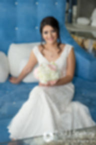 Maria smiles for a bridal portrait prior to her March 2016 Rhode Island wedding.