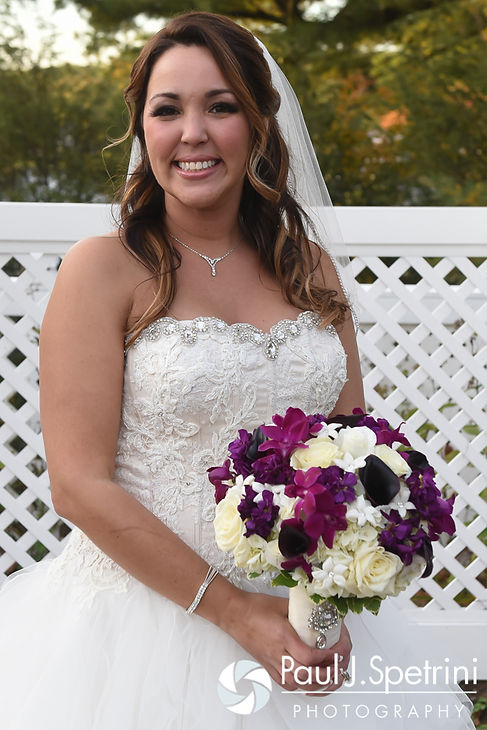 Stephanie poses for a formal photo prior to her October 2016 wedding reception at Lake Pearl Luciano's in Wrentham, Massachusetts.