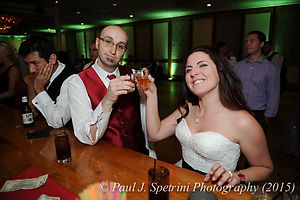 Justin Bolani celebrates during his June 2015 wedding reception.