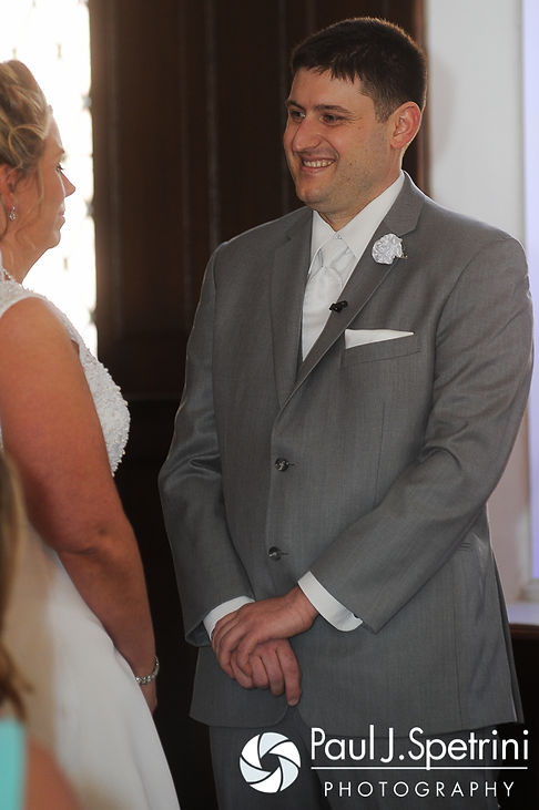 Shawn smiles during his spring 2016 Rhode Island wedding.