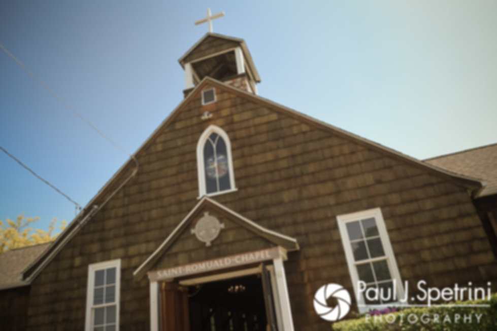 A look at Saint Romuald Chapel in Matunuck, Rhode Island prior to Molly and Tim's June 2017 wedding ceremony.