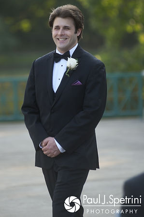 Len walks down the aisle prior to his September 2017 wedding ceremony at the Roger Williams Park Casino in Providence, Rhode Island.