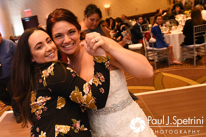 Nicky dances with a guest during her September 2017 wedding reception at the Crowne Plaza Hotel in Warwick, Rhode Island.