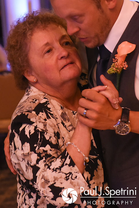 Scott and his mother dance during his August 2017 wedding reception at Crystal Lake Golf Club in Mapleville, Rhode Island.