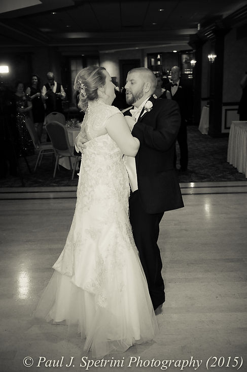 Kerry and Adam have their first dance at their fall wedding at Quidnessett Country Club in North Kingstown, Rhode Island on October 23rd, 2015.
