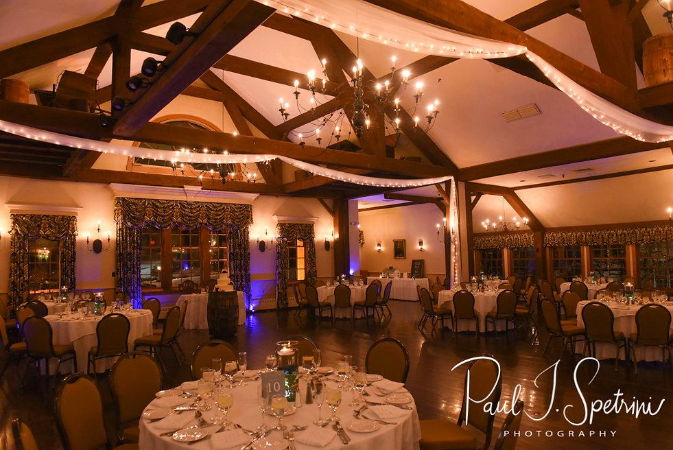 A look at the reception hall prior to Nicole & Kurt's November 2018 wedding reception at the Publick House Historic Inn in Sturbridge, Massachusetts.