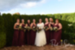 Katie poses for a photo with her bridesmaids prior to her October 2018 wedding ceremony at The Villa at Ridder Country Club in East Bridgewater, Massachusetts.