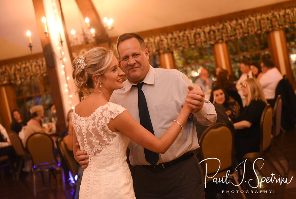 Nicole and her father dance during her November 2018 wedding reception at the Publick House Historic Inn in Sturbridge, Massachusetts.
