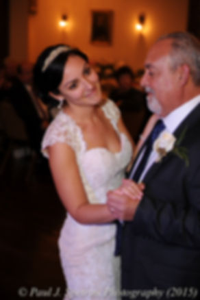 Emma and her father dance during her November 2015 wedding at the Publick House in Sturbridge, Massachusetts.