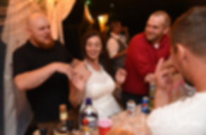 Karolyn tries to bartend during her August 2018 wedding reception at a private residence in Sterling, Connecticut.