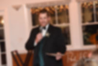 The best man gives a toast during Cara & Brandon's November 2018 wedding reception at the North Beach Clubhouse in Narragansett, Rhode Island.