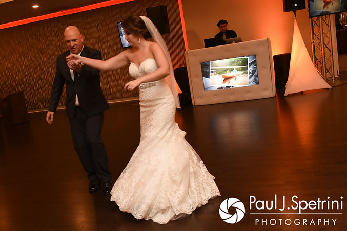 Kristina and her father dance during her October 2017 wedding reception at the Villa Ridder Country Club in East Bridgewater, Massachusetts.