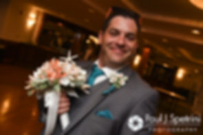Paul smiles for a photo during his September 2016 wedding reception at the Aqua Blue Hotel in Narragansett, Rhode Island.