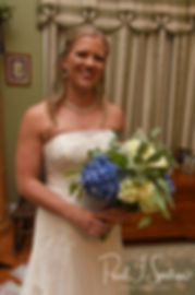 Kim smiles prior to her September 2018 wedding ceremony at their home in Coventry, Rhode Island.