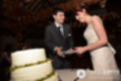 Ellen and Jeremy cut the cake during their May 2016 wedding reception at Bittersweet Farm in Westport, Massachusetts.