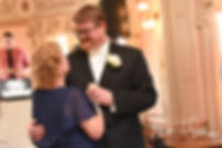 Mark and his mother dance during his August 2018 wedding reception at the Roger Williams Park Casino in Providence, Rhode Island.