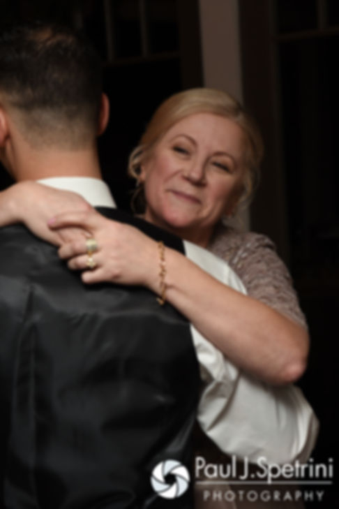 David dances with his mother during his December 2016 wedding reception at the Waterman Grille in Providence, Rhode Island.