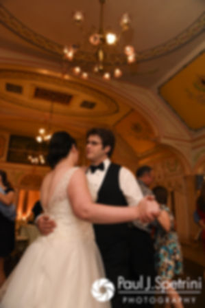 Allison and Len dance during their September 2017 wedding reception at the Roger Williams Park Casino in Providence, Rhode Island.