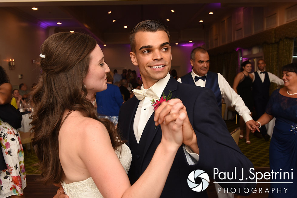 Alex and Alyssa dance during their August 2016 wedding reception at LeBaron Hills Country Club in Lakeville, Massachusetts.