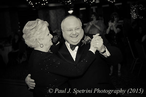 Ron dances with his mother in law during his December 2015 Rhode Island wedding at Quidnessett Country Club in North Kingstown, RI.