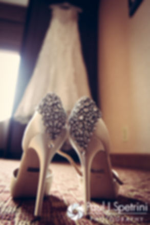 A look at Ellen's shoes for her May 2016 wedding at Bittersweet Farm in Westport, Massachusetts.