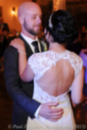 Emma and Mike dance during their November 2015 wedding at the Publick House in Sturbridge, Massachusetts.