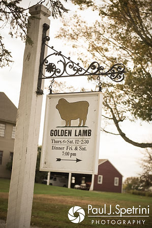 A look at the welcome sign prior to Samantha and Dale's October 2017 wedding reception at the Golden Lamb Buttery in Brooklyn, Connecticut.