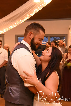 Lizzy & Gabe dance during their September 2018 wedding reception at Crystal Lake Golf Club in Mapleville, Rhode Island.