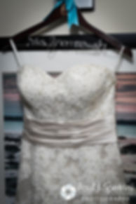A look at Marissa's wedding dress prior to her September 2016 wedding ceremony at Beavertail Lighthouse in Jamestown, Rhode Island.