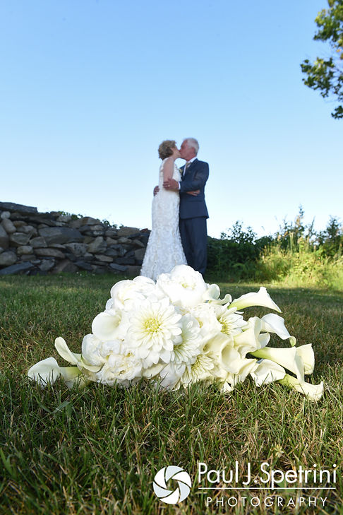 Bob and Debbie kiss following their June 2016 wedding in Barrington, Rhode Island.