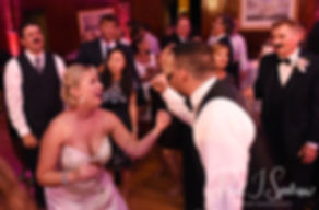 Meghan dances with Brian during her September 2018 wedding reception at Squantum Association in Riverside, Rhode Island.