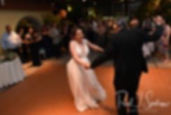Ali and her father dance during her May 2018 wedding reception at the Roger Williams Park Botanical Center in Providence, Rhode Island.