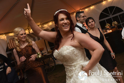 Brooke dances during her October 2016 wedding reception at The Farm at SummitWynds in Jefferson, Massachusetts.