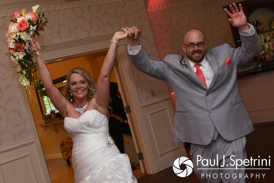 Michelle and Eric enter during their May 2016 wedding at Hillside Country Club in Rehoboth, Massachusetts.