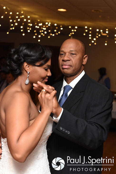 Jennifer and her father dance during her September 2016 wedding reception at the RI Shriners and Imperial Room at Rhodes Place in Providence, Rhode Island.