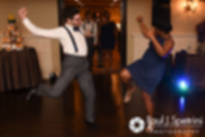 Members of the wedding party enter during Kemi and Warren's August 2016 wedding reception at the Villa at Riddler Country Club in East Bridgewater, Massachusetts.