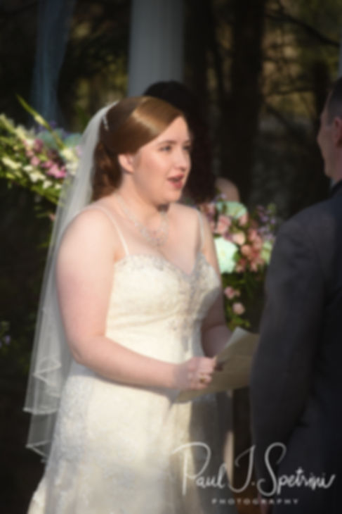 Kaytii says her vows during her May 2018 wedding ceremony at Meadowbrook Inn in Charlestown, Rhode Island.