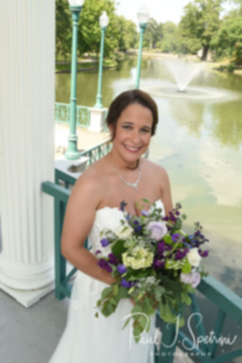 Danielle poses for a formal photo following her August 2018 wedding ceremony at the Roger Williams Park Casino in Providence, Rhode Island.