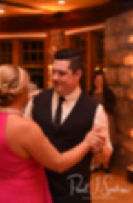 Dan and his mother dance during his September 2018 wedding reception at The Towers in Narragansett, Rhode Island.