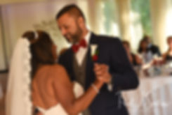 Jimmy & Saken have their first dance during their July 2018 wedding reception at Lake Pearl in Wrentham, Massachusetts.