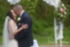 Ryan and Mike kiss during their May 2018 wedding ceremony at Bittersweet Farm in Westport, Massachusetts.