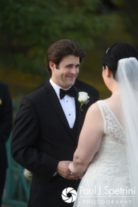 Len smiles during his September 2017 wedding ceremony at the Roger Williams Park Casino in Providence, Rhode Island.