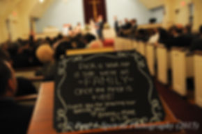 A sign on display at Emma and Mike's November 2015 wedding at the Publick House in Sturbridge, Massachusetts.