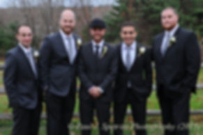 Mike and his groomsmen smile for a photo prior to his November 2015 wedding at the Publick House in Sturbridge, Massachusetts.