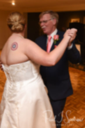 Marijke and her father dance during her June 2018 wedding reception at Independence Harbor in Assonet, Massachusetts.
