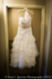 Jean Andrade's wedding dress.