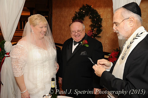Ron laughs at his and Cathy's December 2015 wedding at Quidnessett Country Club in North Kingstown, Rhode Island.