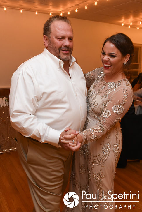 Arielle and her father dance during her September 2017 wedding reception at North Beach Club House in Narragansett, Rhode Island.